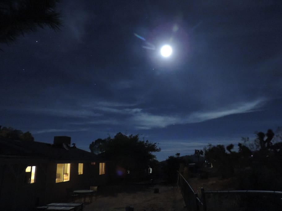 Super moon washing over the property.  The night sky is amazing!