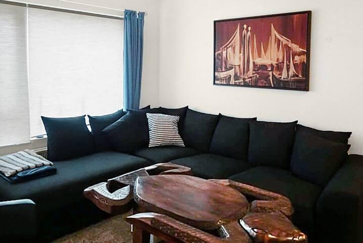 Sofa in living room.