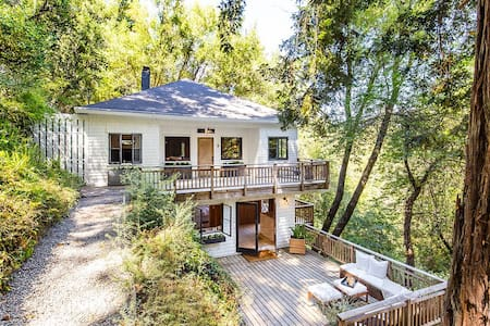 Serene Mill Valley gem in the redwoods - Mill Valley - Maison