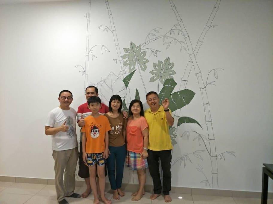 Enjoy Mural art in Nice, Cosy Condominium at Johor entertainment Hub