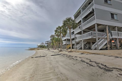 Waterfront Escape w/ Balcony on Shell Point Beach