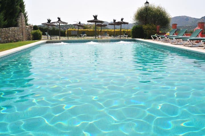Andalusia cortijo & pool, sleeps 26