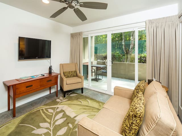 Island Ease+Vibe, WiFi, Chic Kitchen, Den, Lanai, Flat Screen–Kauai Kailani K120