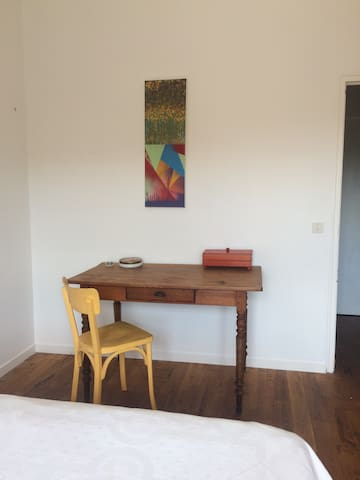There is a table in your room for working