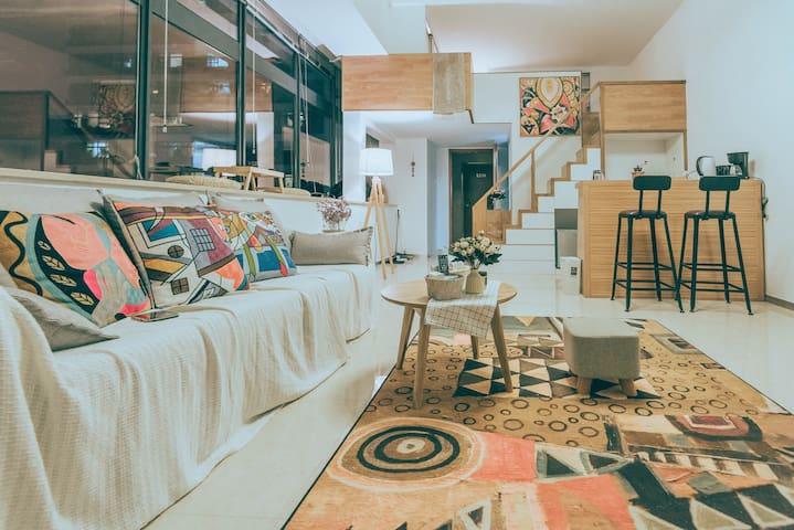 设计师小半·room1·极光·小复式·BRT速达机场鼓浪屿火车站·小清新 - 厦门 - Apartament