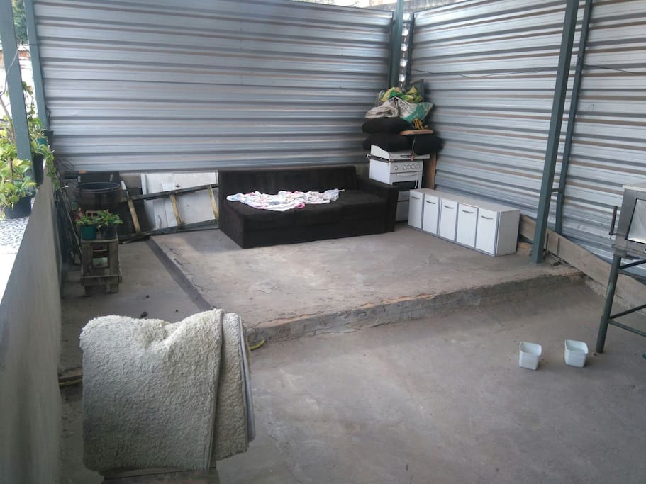Área externa p churrasco sofá