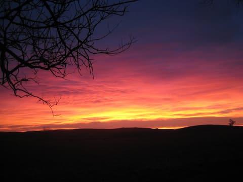 Sunrise on the Nebraska prairie.