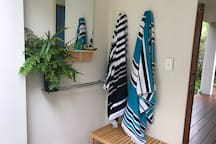 Beach towels available on request.