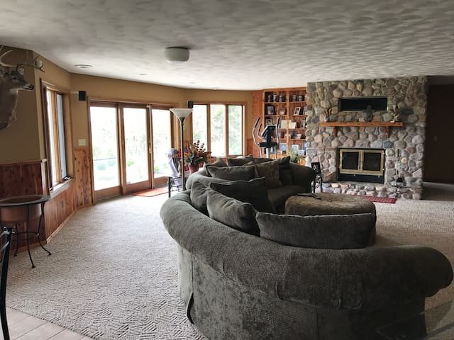 Common/living area. Two large couches.