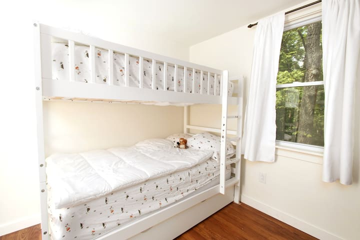 Bunk up in our bunk room - great for kids and adults who are looking for that childhood nostalgia