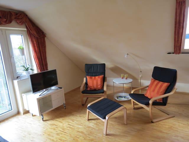 Apartment farbig und rostig in Münster-Handorf
