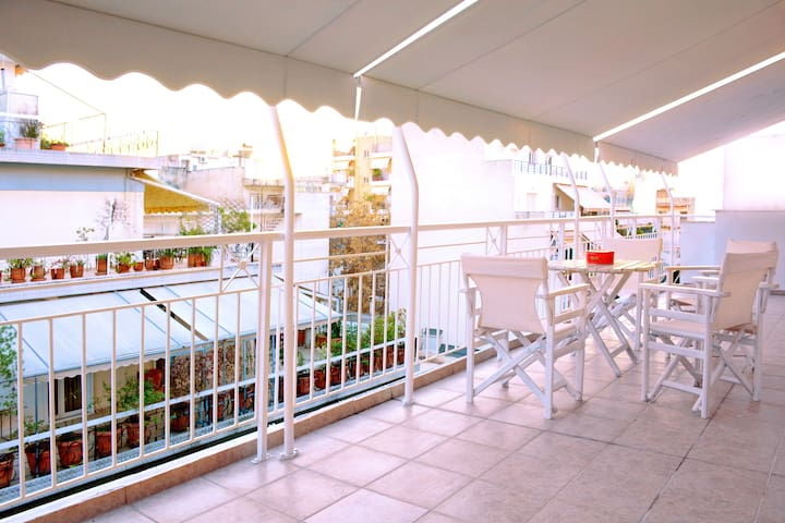 3persons flat with great balcony - Zografou - Apartamento