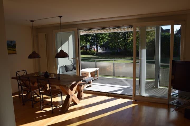 Ruhige und helle Wohnung mit grossem Balkon
