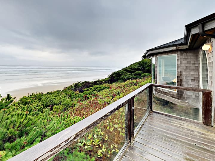 Stunning Oceanfront Home with Fire Pit & Fireplace