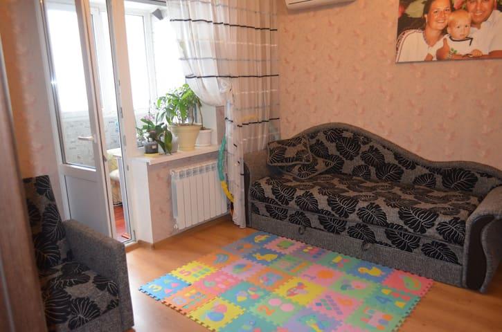 Уютная комната в двухкомнатной квар - Kyiv - Apartment