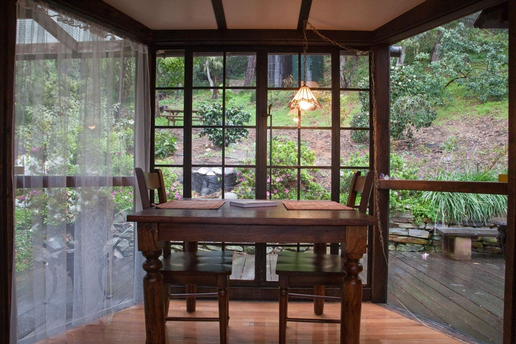 Dining area overlooking