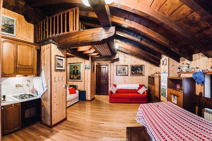Cozy 4 people studio in Champoluc
