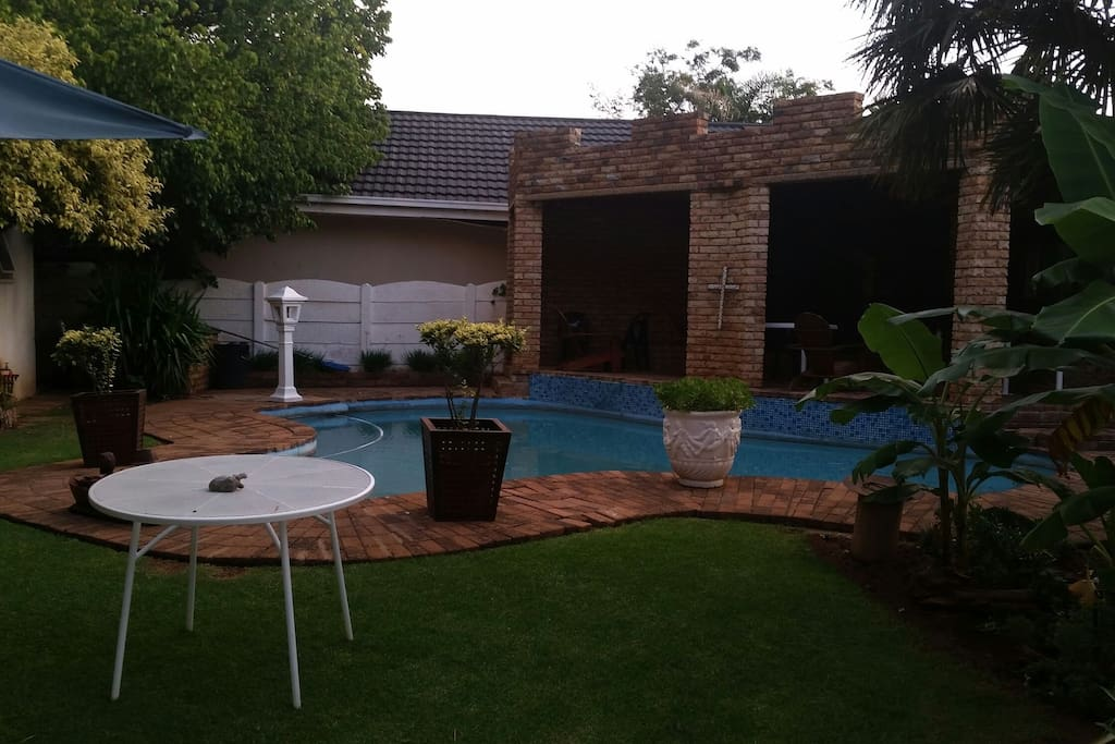 Swimming pool and Barbeque area