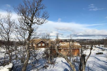 Flott hyttetun m/fantastisk turterreng - nær Geilo - Geilo - Blockhütte