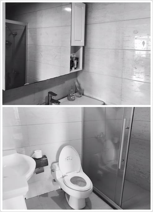 Your own washroom,spacious and clean.