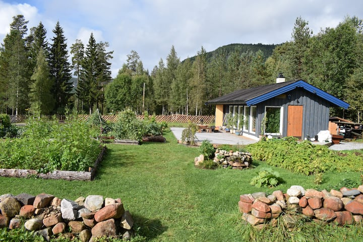 Elvheim- A little cabin on an ecological farm