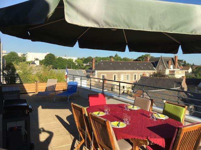 Appartement standing terrasse et spa