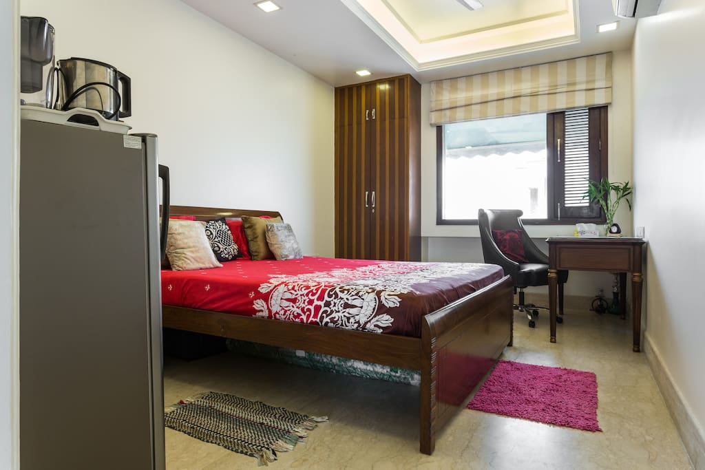 Super King size real bed with premium quality mattress for good night sleep.