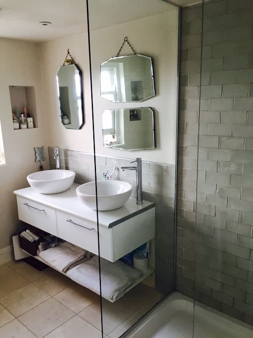 En-suite bathroom in master with walk in show