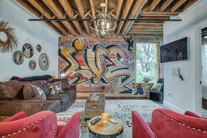 Eclectic apartment in historic tobacco barn