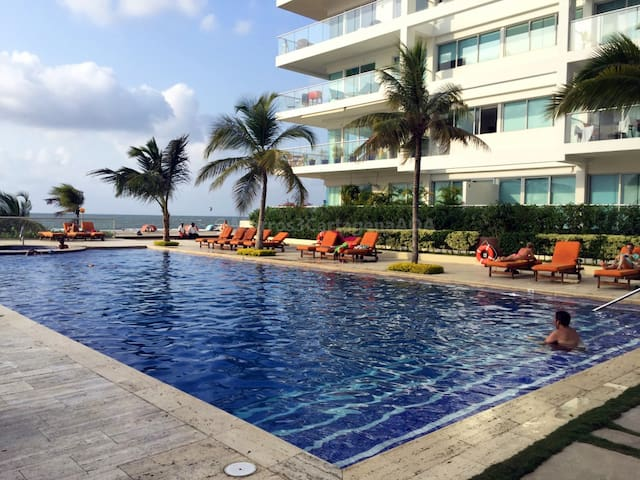 Cartagena Morros 3 Beachfront 2room - La Boquilla - Apartamento