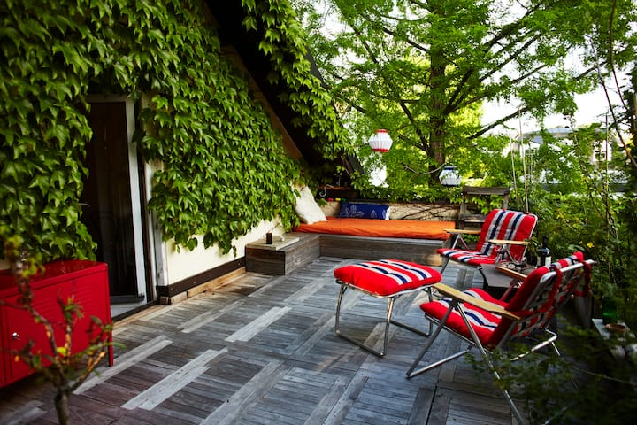 Quiet flat with a big terrasse