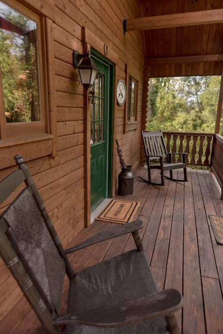 Relax on the front porch while listening to the sounds of nature all around you.