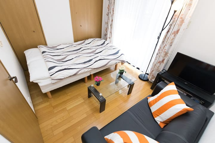 1 Bedroom Apt nrSTA 4min>Shinjuku CableTV+WiFi - Shibuya-ku - Lägenhet