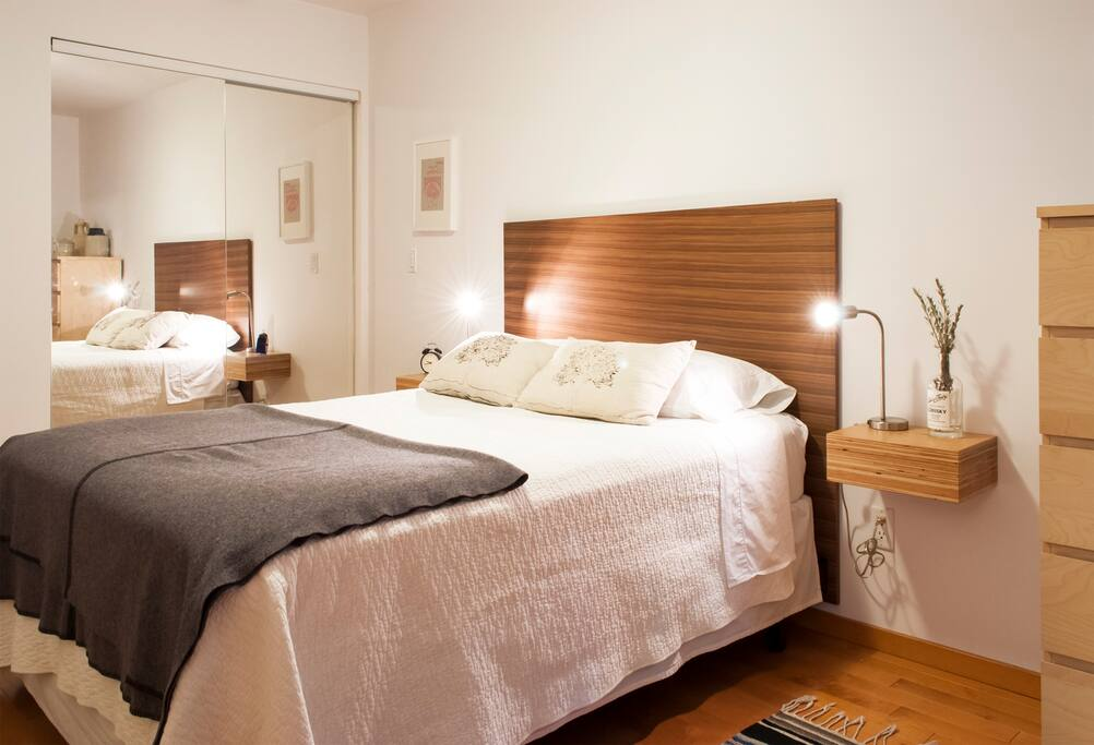 Separate bedroom with Queen size bed