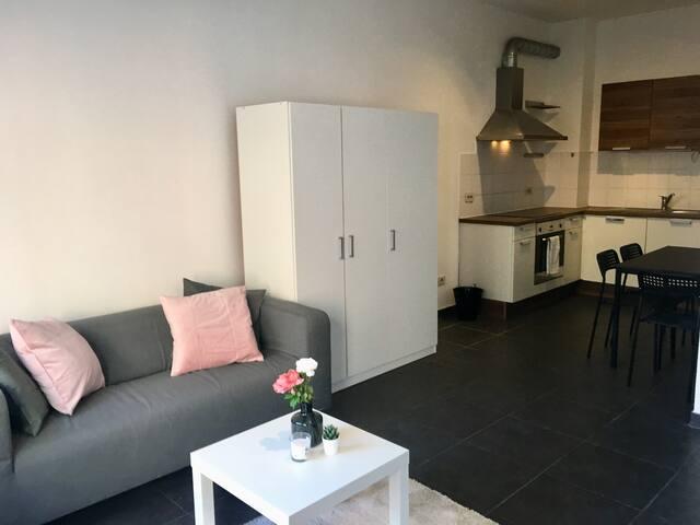 Eénslaapkamer appartement met zicht op het MAS