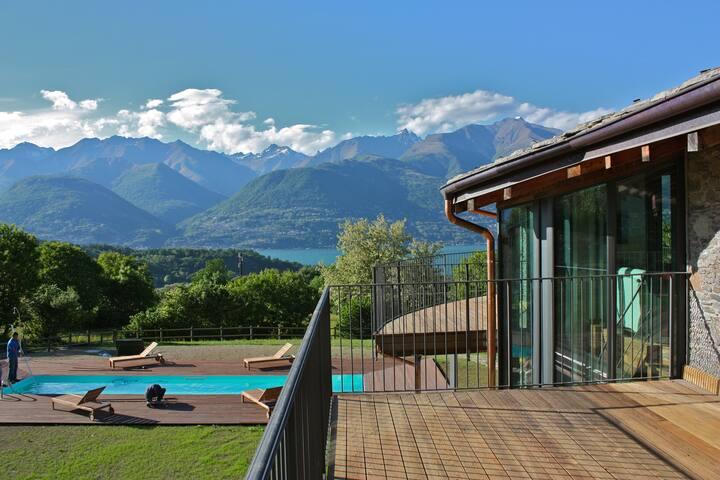 Magnifico Appartamento in villa lago di Como - Colico - Lägenhet
