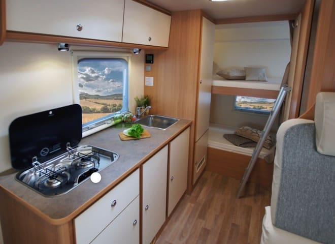 New, modern and stylish motor home