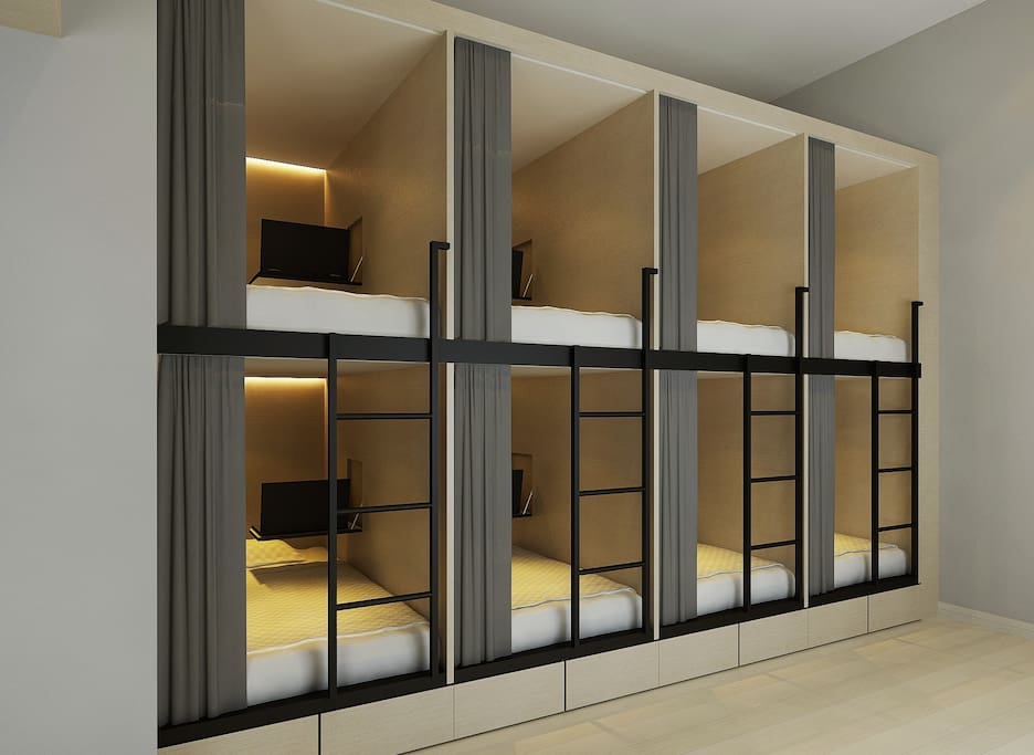 Our Single Capsule Beds (3D Visual Image *This image shown for illustration only*)