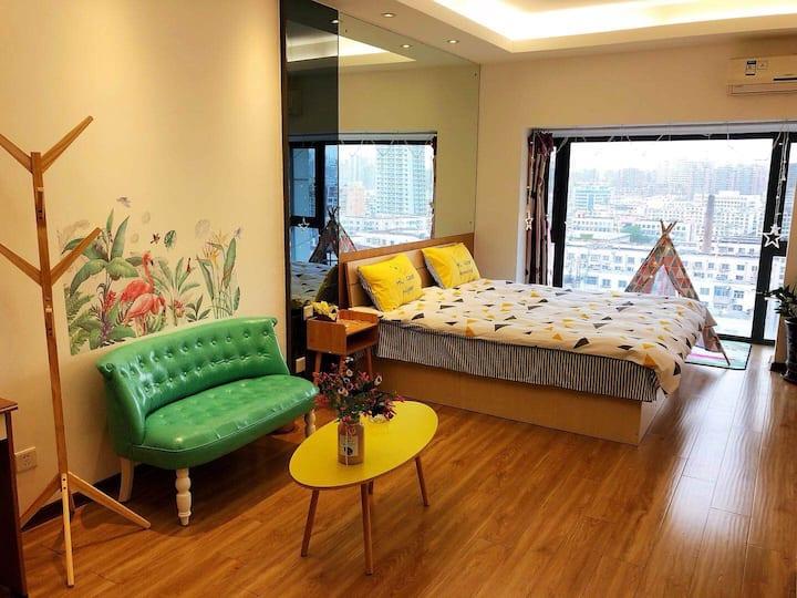 中街步行街 故宫 北欧宜家风格 简约设计 35平公寓