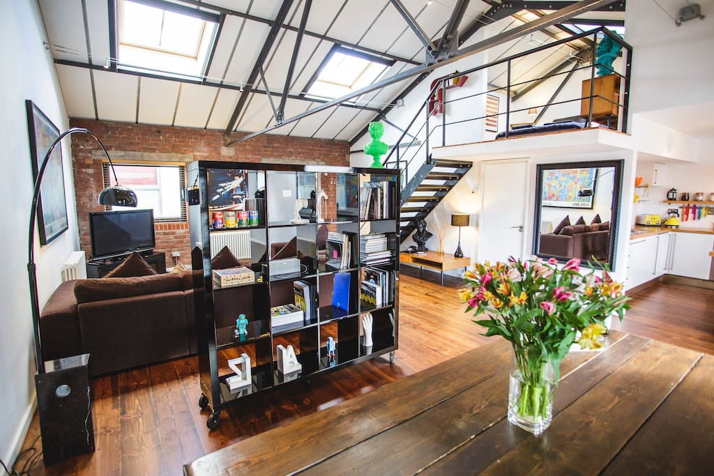 The Loft was our very first Airbnb, based on a Brooklyn loft we stayed in a few years back.