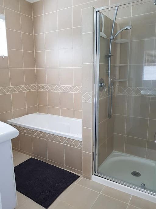 Shared bathroom with other room
