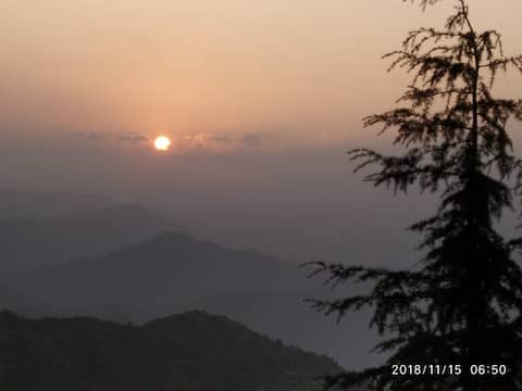 Paradise Home Stay Nainital  - Sun rise view