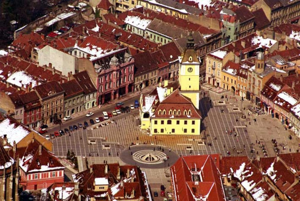 Panoramic view of Council Square, Brasov
