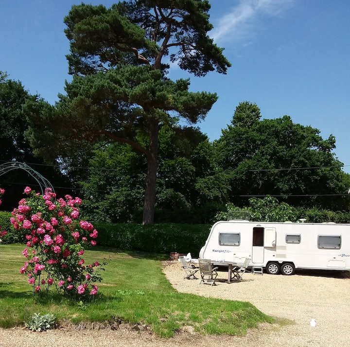 Ashdown Forest Glamping Caravan Holiday, Uckfield