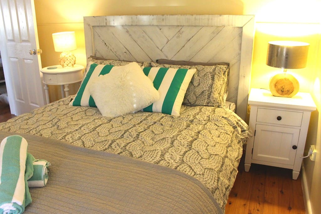 Unique Fresh white furnishings to make your stay very special and lovely linen too.