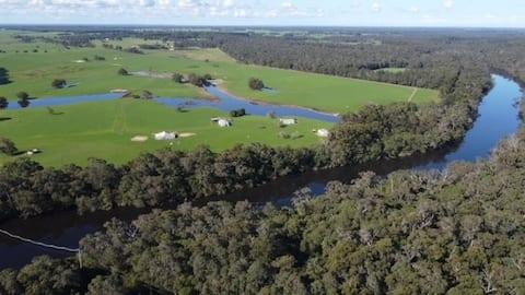 Alojamiento en Blackwood River Farm, región de Margaret River