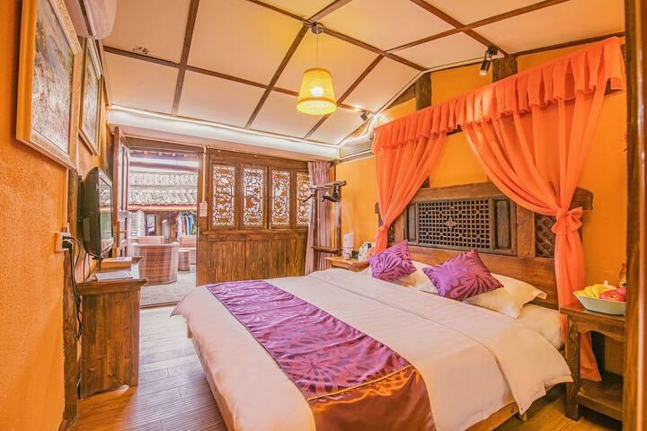 丽江纳西四合庭院 纳西阿哥邀您品茶 聊天 看雪山 舒适大床房 210房