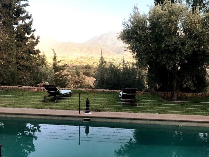 Maison de 4ch avec piscine, panorama exceptionnel