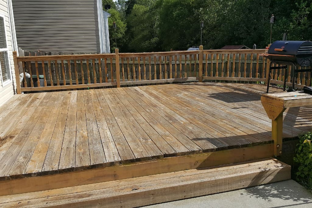 Deck for BBQ.