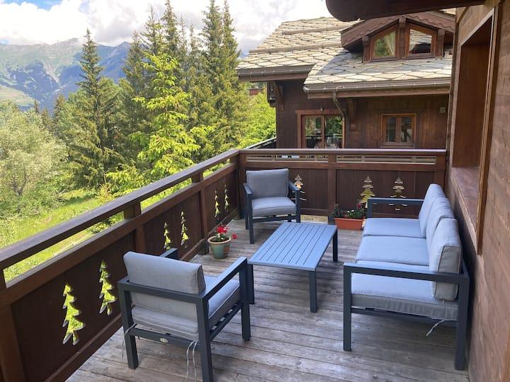 Superbe Chalet avec vue panoramique et  Sauna